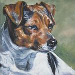 Нарисованная датско-шведская фермерская собака