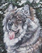 Нарисованная собака евразиер