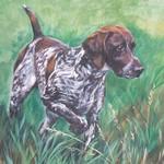 Нарисованная собака курцхаар