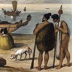 Kuri и два предводителя племени Маори